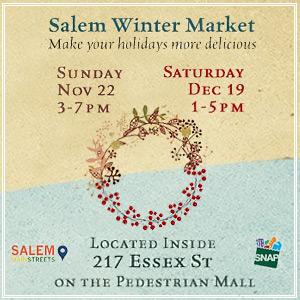 Salem Winter Market - November 22 and December 19